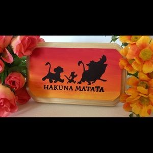 Lion King Painted wood plaque